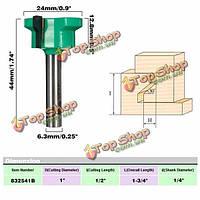 1/4-дюйма хвостовик фронтальная панель ящика совместный Фреза для деревообработки