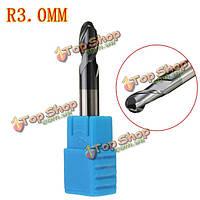 R3.0мм азота с покрытием цилиндрическим хвостовиком 2 флейты концевой шаровой мельницы нос чпу инструмент