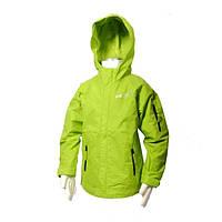 Ветровка для мальчика (Чехия) демисезонная зеленая с капюшоном и карманами влагонепроницаемая