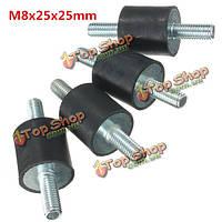 4шт m8x25x25мм резиновый амортизатор двойники концы резиновые опоры виброизолятором опоры