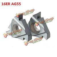 Карбид потоковая вставляет наружное точение держатель инструмента вставки 16ER AG55 2pcs