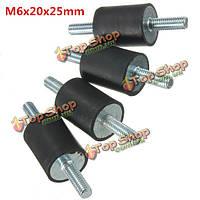4шт m6x20x25мм резиновый амортизатор двойники концы резиновые опоры виброизолятором опоры