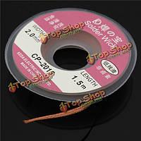 Демонтаж 5ft/1.5mx2mm плетет медный кабель провода шпульки фитиля съемника припоя