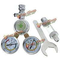 Регулятор давления co2 магнитный соленоидный пузырь клапана противостоит регулятору аквариума