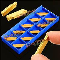 10шт mgmn300-м твердосплавные пластины 3мм ширины для mgehr/mgivr желобков инструмент отсечения
