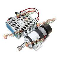 300Вт с воздушным охлаждением двигателя моторизованный шпиндель с зажимом и питания регулятора скорости