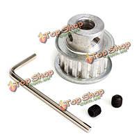 Xl15t 8мм отверстий алюминиевый ремень газораспределения шкив синхронные колесо для шагового двигателя