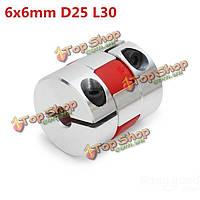 6мм x6мм алюминия гибкий паук муфта od25мм х l30мм ЧПУ шагового двигателя Разъем для навесного