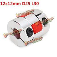 12мм x12мм алюминиевый гибкий паук соединения валов od25мм х l30мм чпу шаговый двигатель разъем переходник