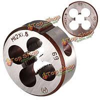 M12 х тангажа 1.5мм Метрика штамп резьба M12x1.5 легированная сталь нить винт круглый штамп