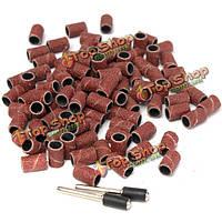 100шт 1/4-дюйма шлифовальные ленты рукава с 2шт оправок для электрического шлифования полирования