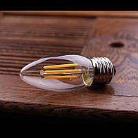 """LED лампа Эдисона C-35  (4w) E-27  (AMBER)""""NEW"""" filament"""