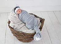 Безразмерная пеленка кокон на липучках Каспер, Енот, фото 1