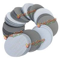 100шт 3-дюйма 3000 грит шлифовальных дисков Self клей смешанной зернистости шлифовальной шкуркой для полировки