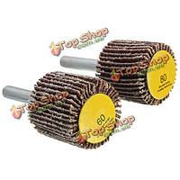 Шлифование наждачной бумаги хвостовика 6 мм колеса 60/80 зернистости dremel аксессуар для роторный инструмент