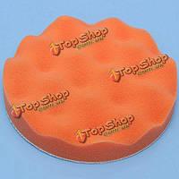 6-дюймов 150мм полировка воском глава мягкий буфер пены губки оранжевый глава площадка