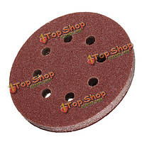 10шт 8 отверстий абразивный песок диски на липучке шлифовальная бумага 60-2000 крупнозернистых шкурок