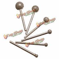 6шт круглое алмазное колесо размола 3мм круглый стержень для dremel ротационного инструмента