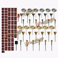 98шт латунь стальной проволоки щетки текстильная полировальных кругов полный набор Dremel вращательный инструмент набор аксессуаров