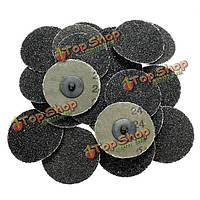 25шт 3-дюйма 24 грит типа Roloc диски R шлифования абразивные диски катиться блокировки грубой