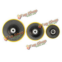 Липучки полировки пластины покровитель m10 угловой шлифовальной колесо Опорная тарелка 80/100 / 125мм для полировки дисков