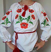Дешевая вышиванка с маками для девочки, фото 1