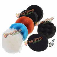 8шт 3-дюйма шерстяной комплект подушки полировки/полировки для автомобильного полировщика
