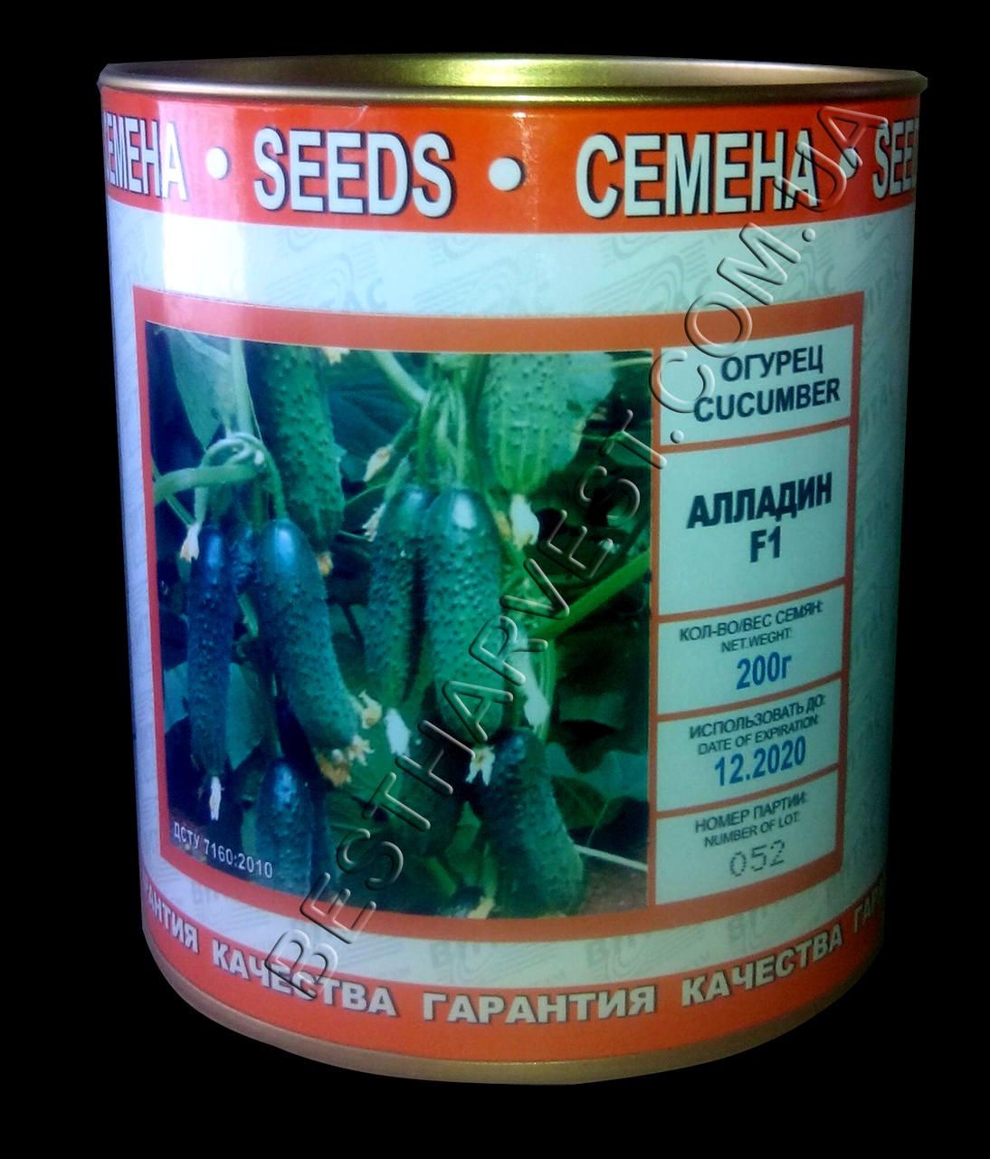 Семена огурца «Алладин F1» инкрустированные, 200 г