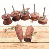 7шт кожаный дерево электрический шлифовальный глава Edge полировка комплект кожаный полировщик