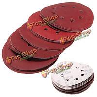 25шт 5-дюймов 125мм 8 отверстий шлифовальных дисков 400-1200 наждачной бумагой