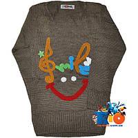 """Детский пуловер """"Smile & Music"""" , вязка , для девочек от 3-4-5 лет"""
