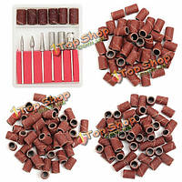 300шт 80/120/180 грит бурильных шлифовальные ленты с 6 запасных битов