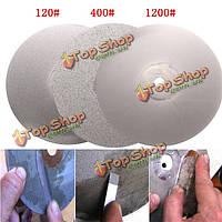 3шт 6-дюймов 120 400 1200 грит алмазный режущий диск алмазный шлифовальный с алмазным покрытием диска