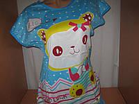 Комплект для дома и сна - футболка и шортики голубой, р.46-48