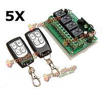 5шт 12v 4-канальный 315МГц канал беспроводной пульт дистанционного управления с 2 Transimitter