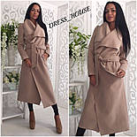 Женское модное удлиненное пальто (5 цветов), фото 4