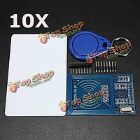 10шт rc522 микросхема индукции карты RFID считыватель модуль