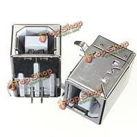 Б 5шт USB типа DIP 90 ° штекерное гнездо печатной платы пайки разъемов