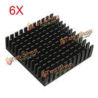 6шт 40x40x11мм алюминиевый теплоотвод радиатор охлаждения