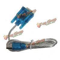 USB 2.0В RS232 последовательный DB9 9-контактный обратиться к кабель-адаптер