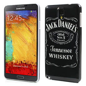 Чехол накладка пластиковый на на Samsung Galaxy Note 3 N9000, Jack Daniels