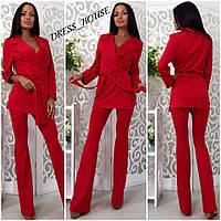Женский модный брючный костюм: жакет и брюки (4 цвета), фото 1