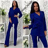 Женский модный брючный костюм: жакет и брюки (4 цвета), фото 3