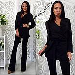 Женский модный брючный костюм: жакет и брюки (4 цвета), фото 4