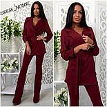 Женский модный брючный костюм: жакет и брюки (4 цвета), фото 5
