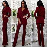 Женский модный брючный костюм: жакет и брюки (4 цвета), фото 6