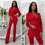 Женский модный брючный костюм: жакет и брюки (4 цвета), фото 7