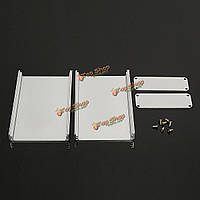 Поделки серебряный алюминиевый корпус инструмент коробка корпус для электронного проекта