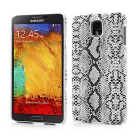 """Чехол накладка пластиковый на на Samsung Galaxy Note 3 N9000, """"Белая змея"""""""