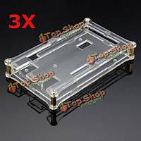 3шт прозрачная акриловая коробка оболочка для Arduino mega2560 модуля r3 платы